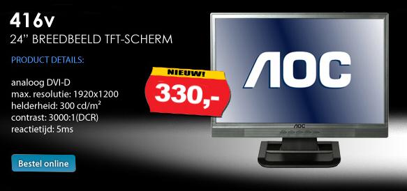 24 inch AOC LCD Breedbeeld